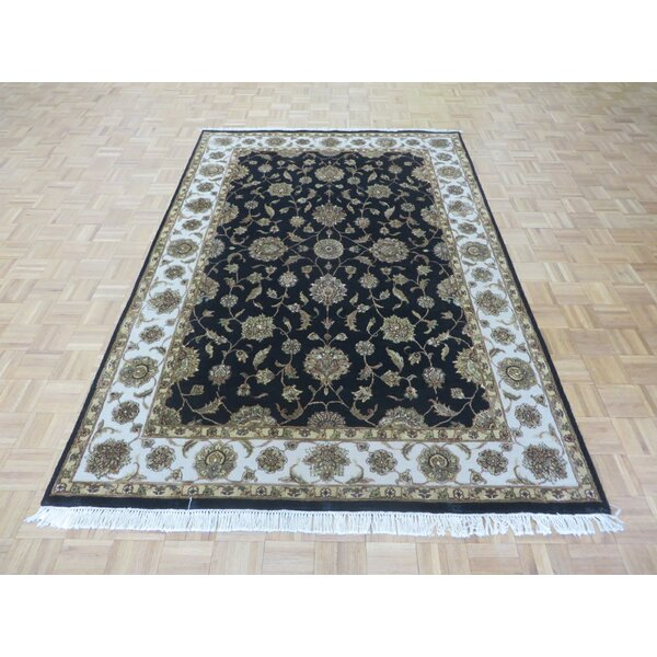 One-of-a-Kind Rhyne Hand-Knotted Wool Black Area Rug by Astoria Grand