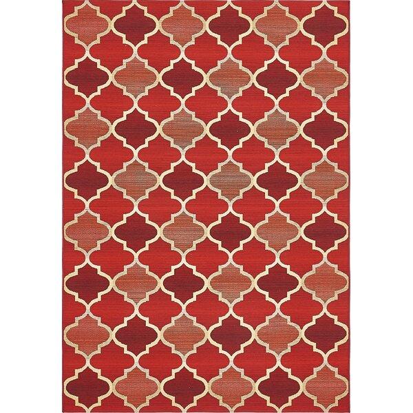 Alice Red Indoor/Outdoor Area Rug by Winston Porter