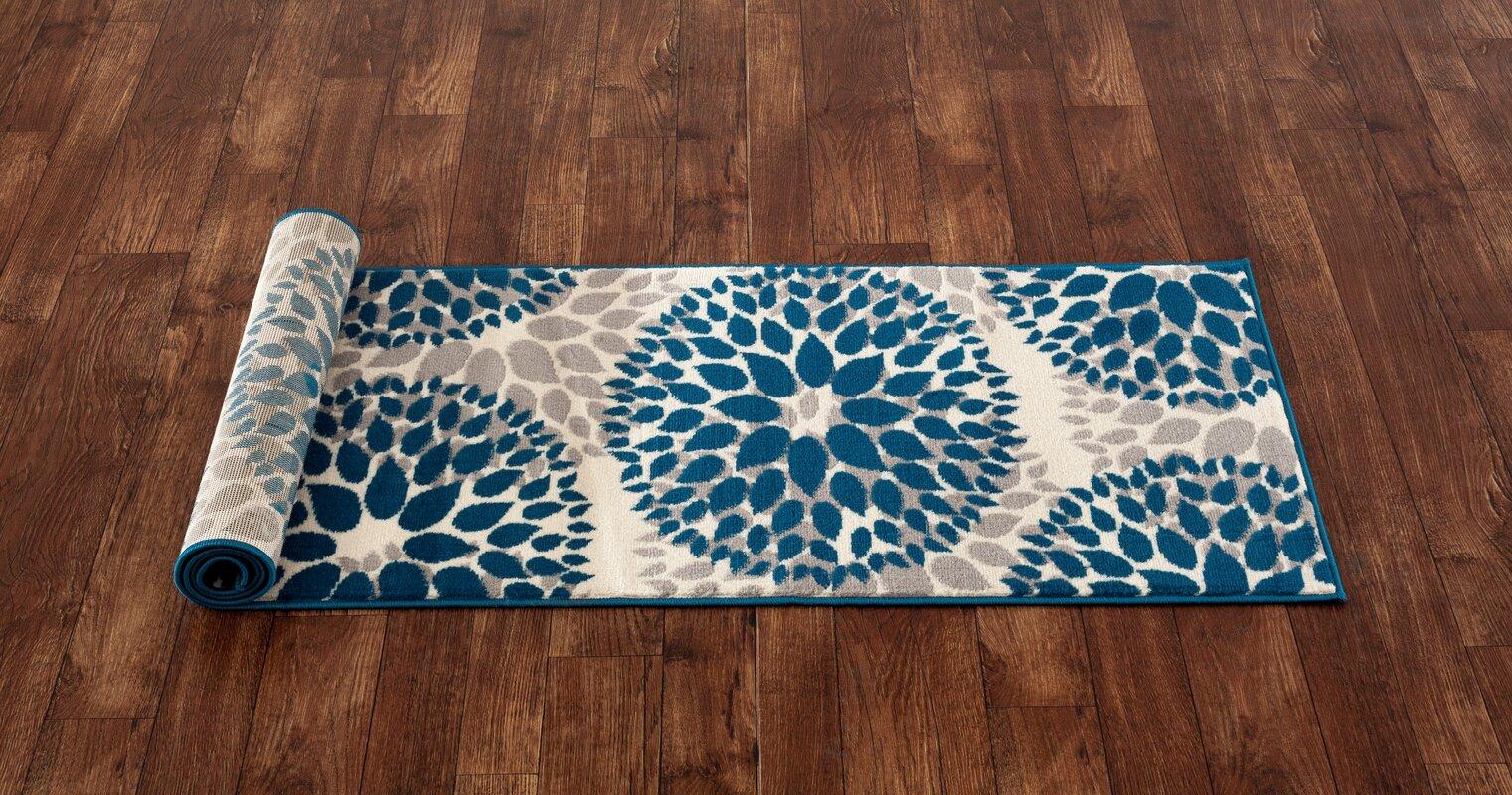 Wrought Studio Wallner Blue Area Rug Amp Reviews Wayfair