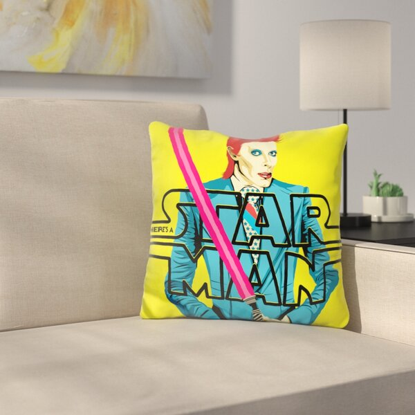 Theres A Starman Throw Pillow by East Urban Home