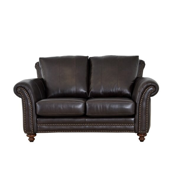 Clinton Leather Loveseat by Westland and Birch