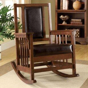 Valley Leatherette Arm Rocking Chair Hokku Designs