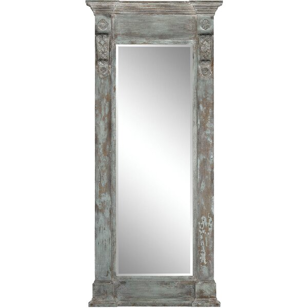 Wood Column Full Length Wall Mirror by Bungalow Rose