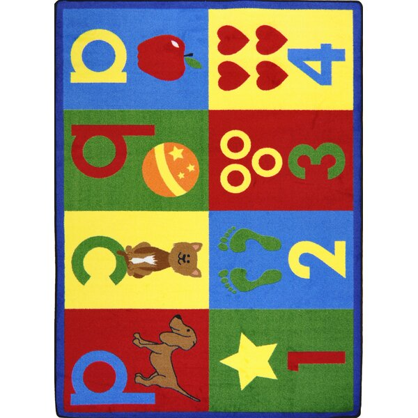 Hand-Tufled Red/Yellow Kids Rug by The Conestoga Trading Co.
