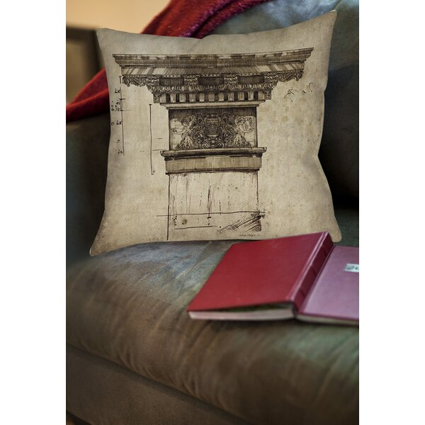 Column I Printed Throw Pillow by Manual Woodworkers & Weavers