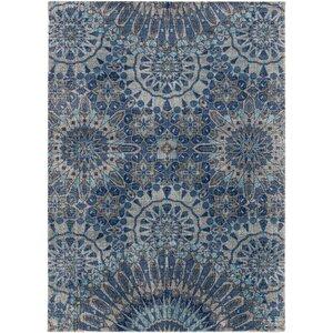 Fredonia Oriental Gray/Blue Area Rug