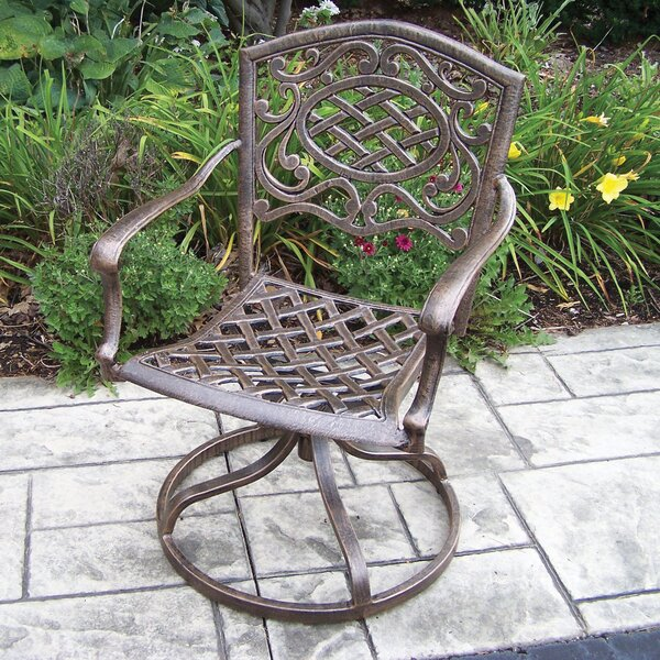 Mcgrady Cast Aluminum Swivel Rocking Chair by Astoria Grand