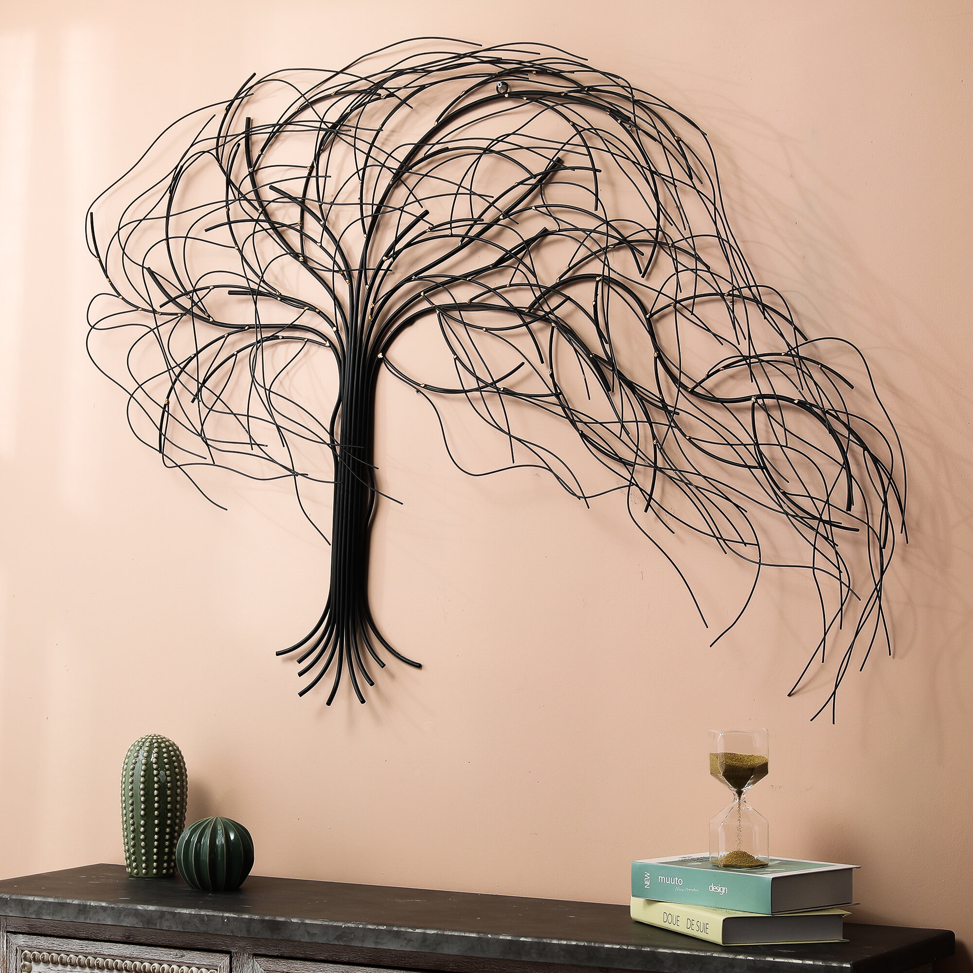 Ebern Designs Metal Windy Tree Wall Decor Reviews Wayfair