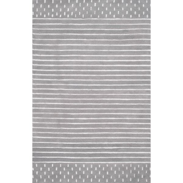 Atterberry Hand Woven Wool Gray Area Rug by Harriet Bee