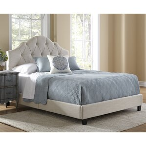 anselmo queen upholstered panel bed - Upholstered Bed Frame Queen
