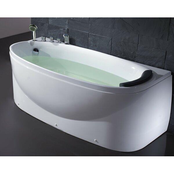 Acrylic 72 x 31.5 Freestanding Soaking Bathtub by EAGO