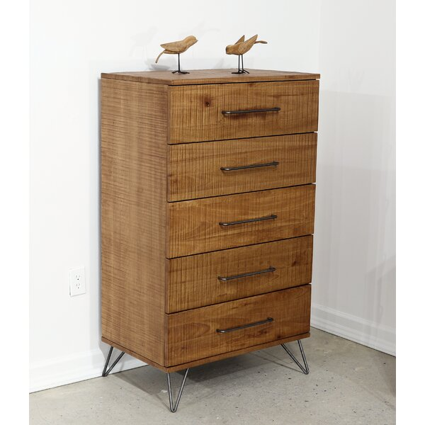 Dearman 5 Drawer Chest by Foundry Select
