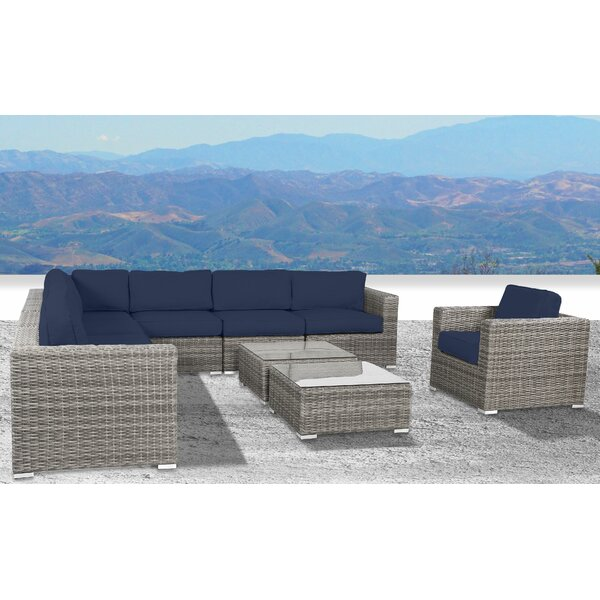 Deandra 10 Piece Sectional Seating Group with Cushions by Sol 72 Outdoor