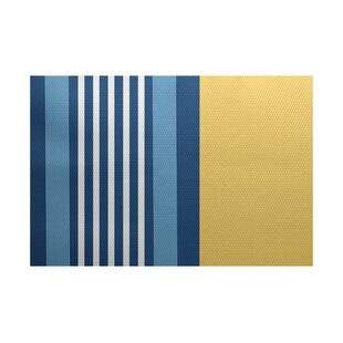 Bargain Bartow Yellow/Blue Indoor/Outdoor Area Rug By Breakwater Bay