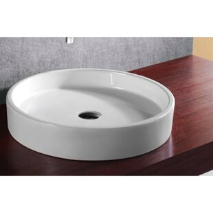Budget Ceramica Ceramic Circular Vessel Bathroom Sink By Caracalla