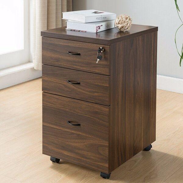 Jaquez Wide Storage 3-Drawer Mobile Vertical Filling Cabinet by Orren Ellis
