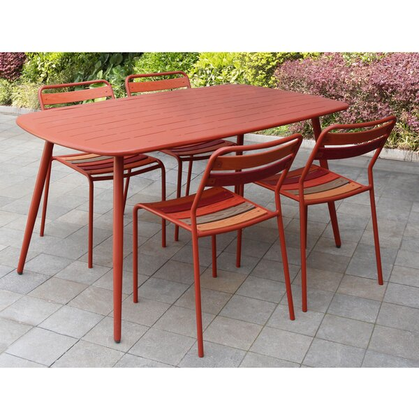 Lugo 5 Piece Dining Set by Ebern Designs