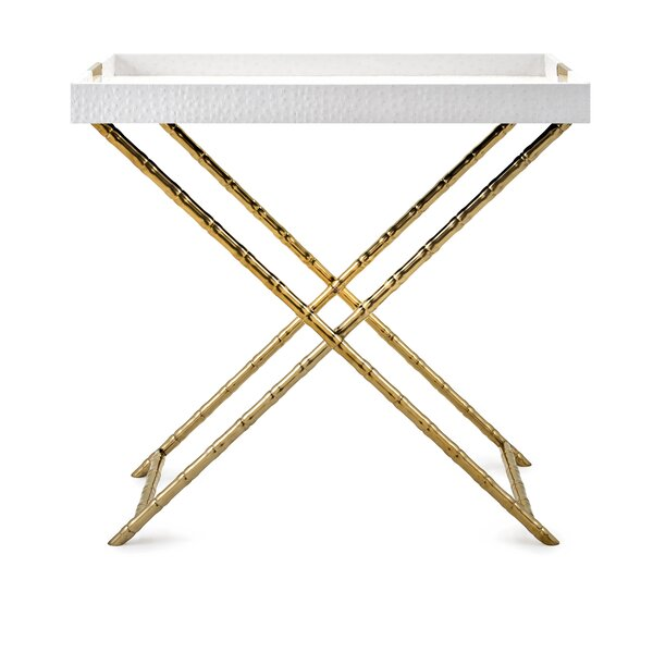 Dylan Stainless Steel Tray Table by Everly Quinn