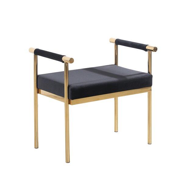 Oldene Upholstered Bench with Velveteen Seat by Mercer41