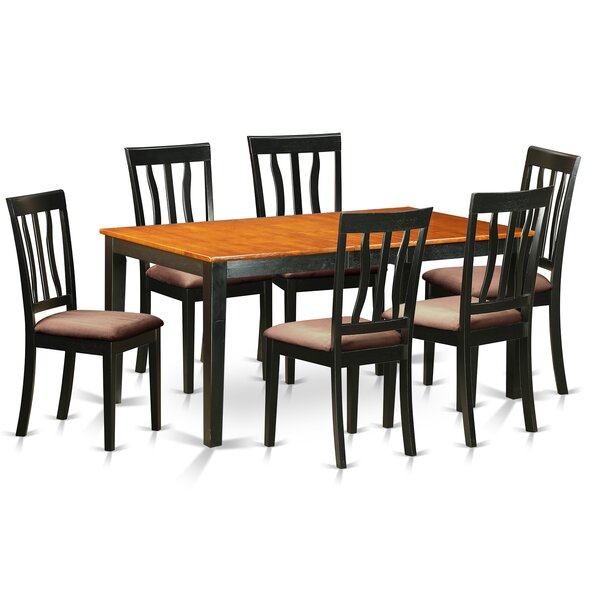 7 Piece Extendable Dining Set by East West Furniture East West Furniture