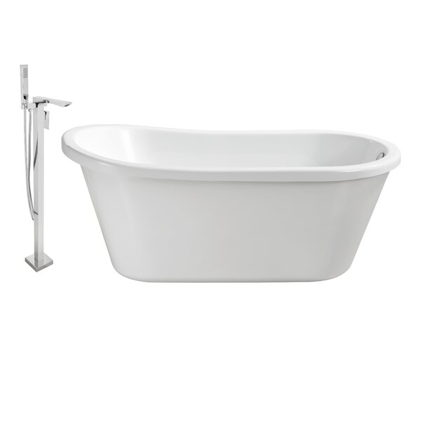 59 x 25 Freestanding Soaking Bathtub by Wildon Home ®