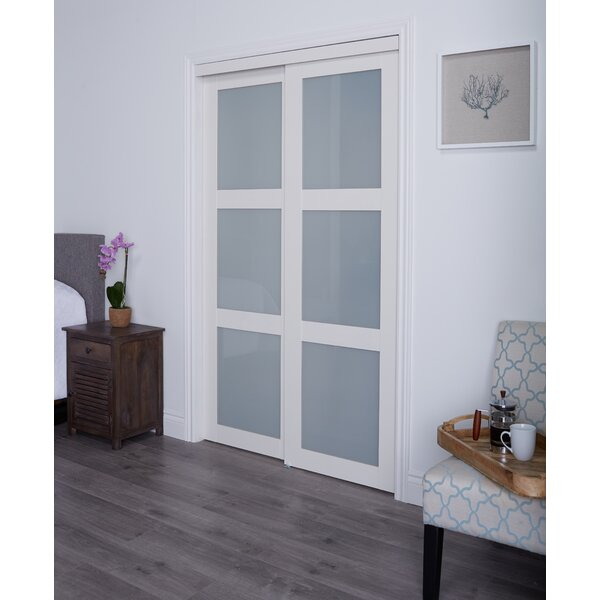 Erias Home Designs Baldarassario MDF 2 Panel Painted Sliding Interior Door \u0026 Reviews | Wayfair  sc 1 st  Wayfair & Erias Home Designs Baldarassario MDF 2 Panel Painted Sliding ...