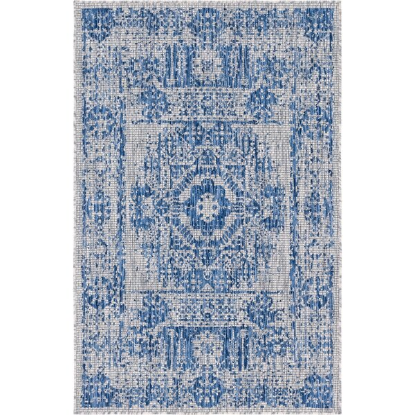 Cowell Blue/Gray Indoor/Outdoor Area Rug by Charlton Home