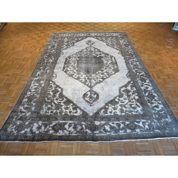 One-of-a-Kind Padro Hand-Knotted Ivory/Gray Area Rug by Bloomsbury Market