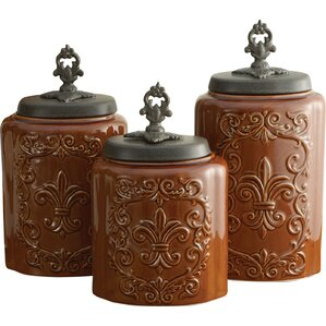 Great 3 Piece Kitchen Canister Set
