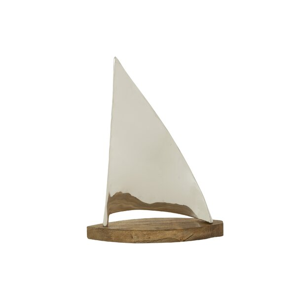 Johnstone Creatively Designed Metal Wood Sailboat Sculpture by Breakwater Bay