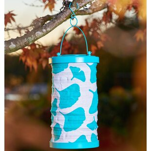 Clearance Soji Ginkgo Canvas 1-Light Hanging Lantern By Allsop Home and Garden
