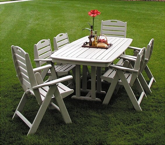 Nautical 7 Piece Dining Set by POLYWOOD®