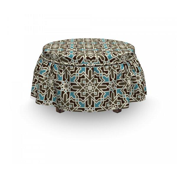 Review Eastern Star 2 Piece Box Cushion Ottoman Slipcover Set