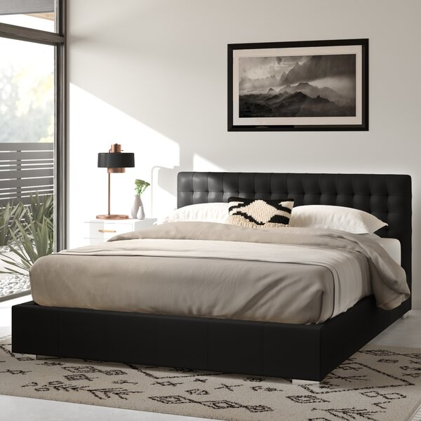 Miranda Upholstered Platform Bed by Wade Logan