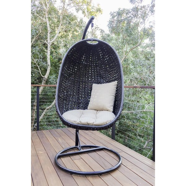 Alcantar Swing Chair with Stand by Bungalow Rose Bungalow Rose