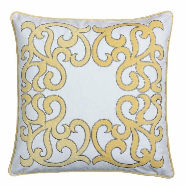 Hepp Applique Velvet Throw Pillow by Mercer41