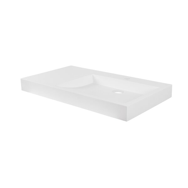 Darby Solid Surface Stone 18 Wall Mount Bathroom Sink by Maykke