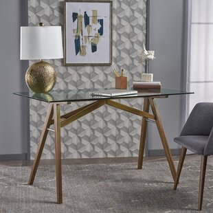 glass desks you ll love wayfair