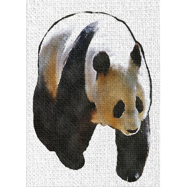 Panda Black Area Rug