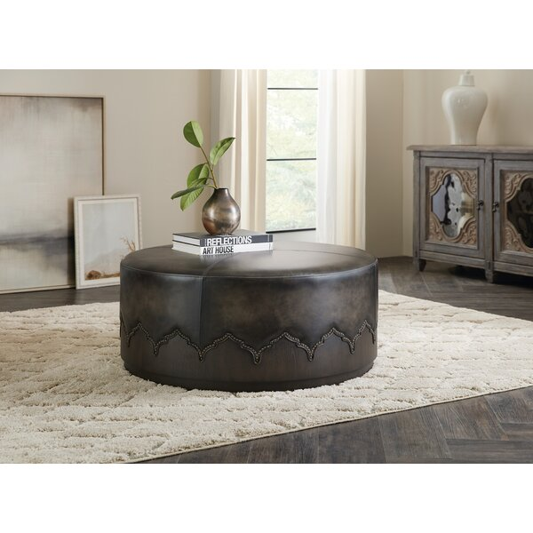 Miles Leather Cocktail Ottoman By Hooker Furniture