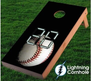 Electronic Scoring Baseball Cornhole Board by Lightning Cornhole