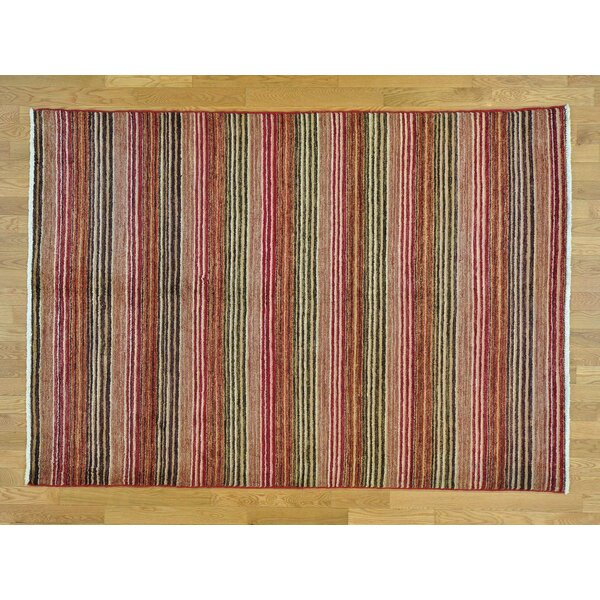 One-of-a-Kind Becker Striped Hand-Knotted Wool Area Rug by Isabelline