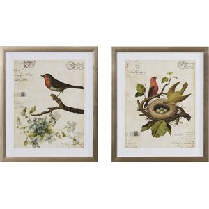 Trepanier 2 Piece Framed Graphic Art Set (Set of 2) by Lark Manor