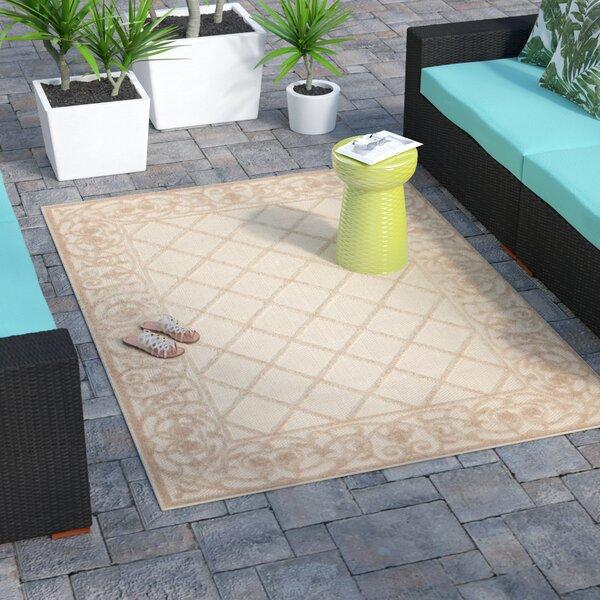 Seaside Cream Indoor/Outdoor Area Rug by Bay Isle Home