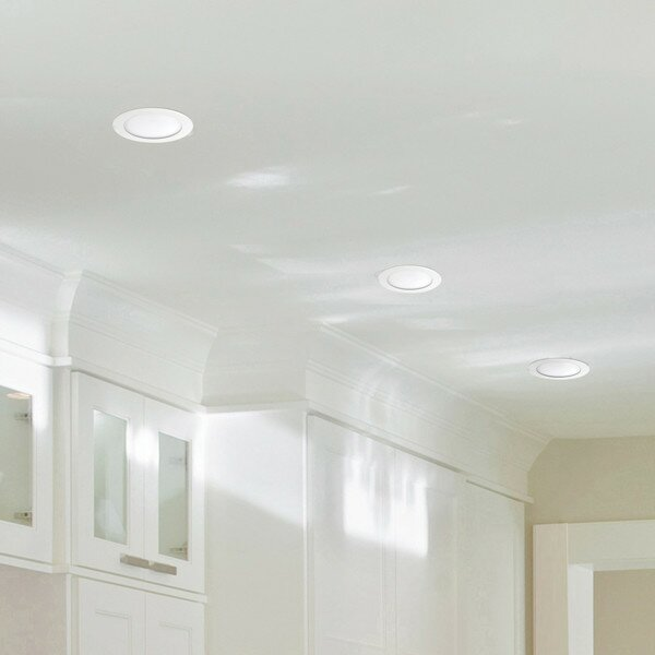 White Ultra Slim 6 LED Recessed Lighting Kit by Globe Electric Company