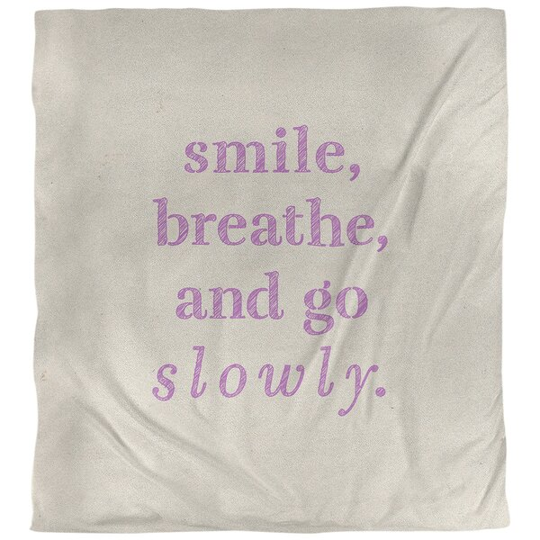 Quotes Handwritten Go Slowly Single Reversible Duvet Cover