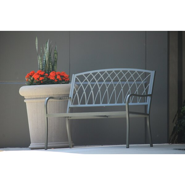 Lydd Steel Garden Bench by Ophelia & Co. Ophelia & Co.