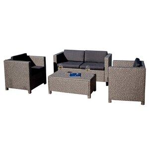 Kappa 4 Piece Sofa Set with Cushions