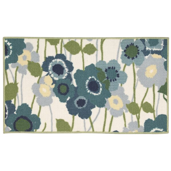 Fancy Free & Easy Pic-A-Poppy Blue/Beige Area Rug by Waverly