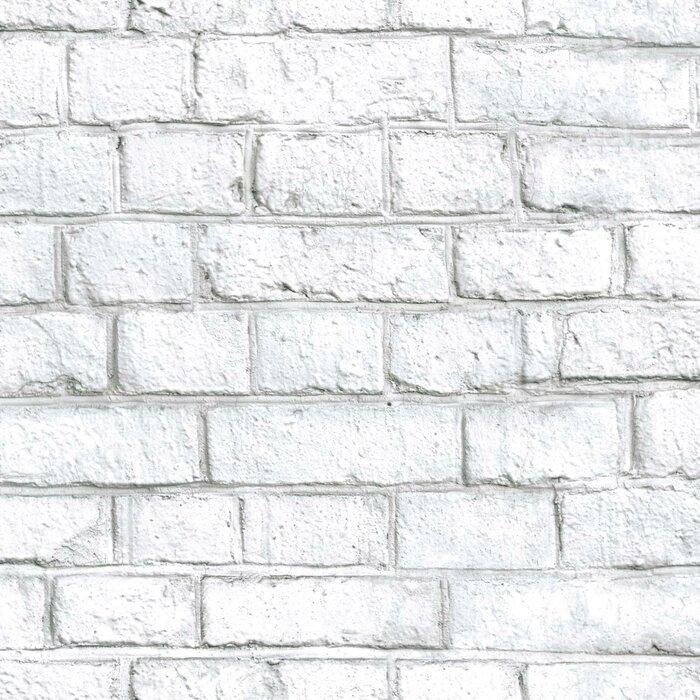 Margret Brick Peel And Stick Wallpaper Roll